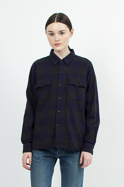 Indigo Block Check Shirt