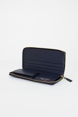 SA0110 Classic Leather Purse Navy