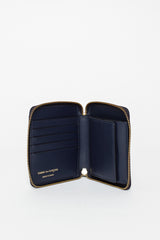 SA2100 Leather Coin Wallet Navy