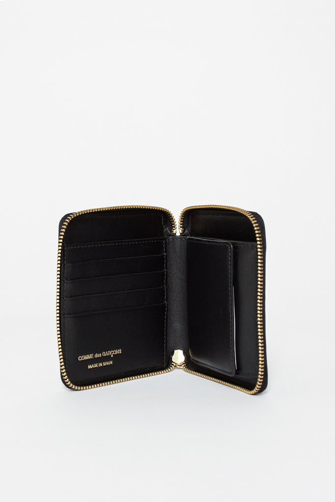 SA2100 Black Leather Coin Wallet