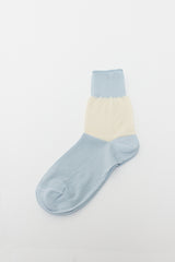 Fine Cotton Sock Sky/Milk