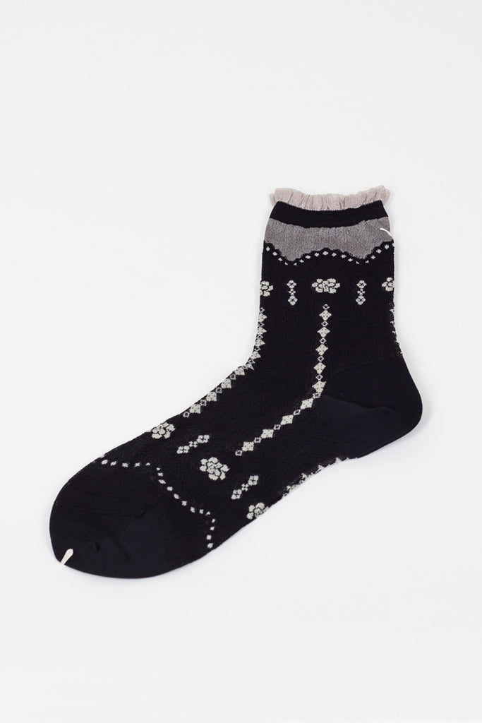 Grey/Black Pattern Sock