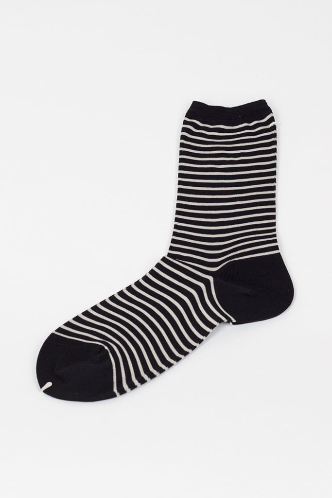 Black/White Striped Sock