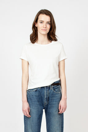 White Organic Cotton Crew Neck Tee
