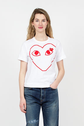 PLAY Red Heart Outline T-Shirt