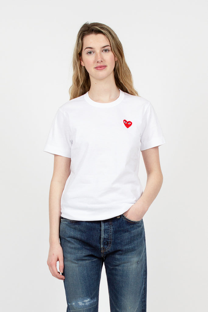 PLAY Heart Appliqué T-Shirt