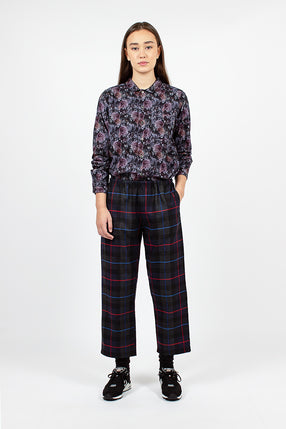 STK Pant Dark Grey/Blue/Red Poly Wool Big Plaid