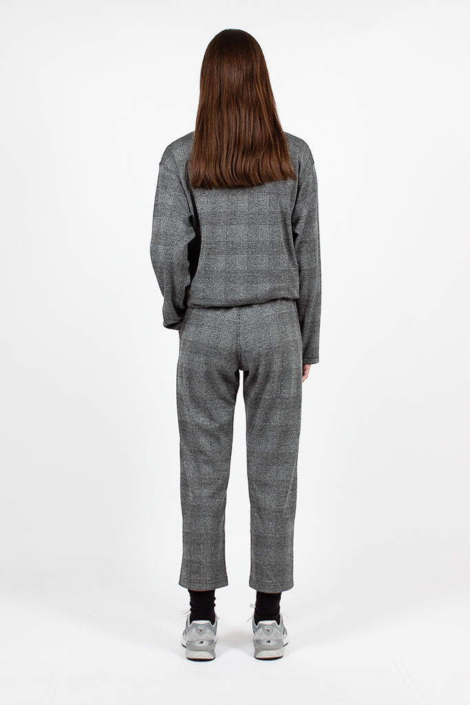 STK Pant Grey PC Knit Glen Plaid