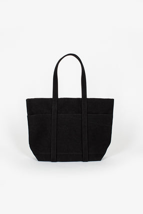 Washed Canvas 6 Pocket Small Tote Black