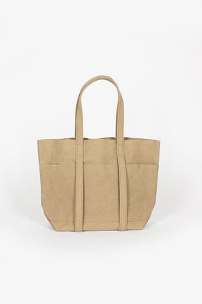 Washed Canvas 6 Pocket Small Tote Taupe