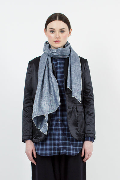 Blue Lurex Chambray Scarf