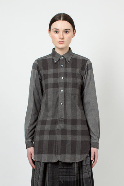 Grey Plaid 19th Century BD Shirt