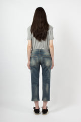 Patch Blue Shorty Jean