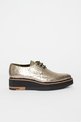 Silver/Gold Lace-Up Shoe
