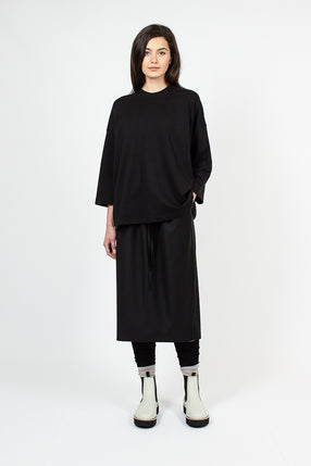 Sisley Black Drawstring Skirt