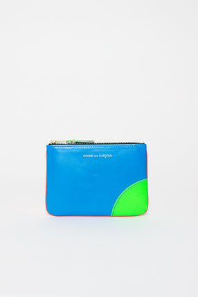 SA8100SF Zip Top Purse Super Fluo Orange/Blue