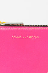 SA8100SF Zip Top Purse Super Fluo Pink/Yellow