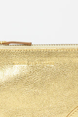 SA8100G Zip Top Purse Gold