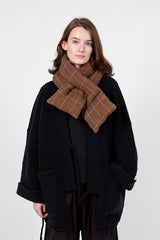 Tweed Fleecy Knit  x Lambs Wool Kesa Scarf