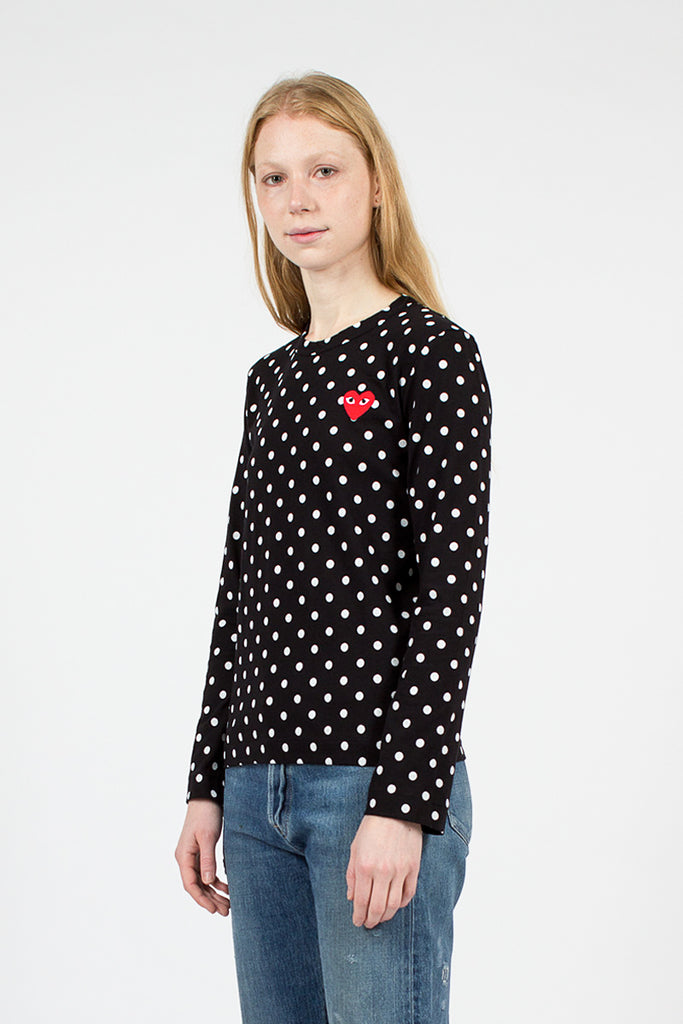 PLAY Black Polka LS T-Shirt