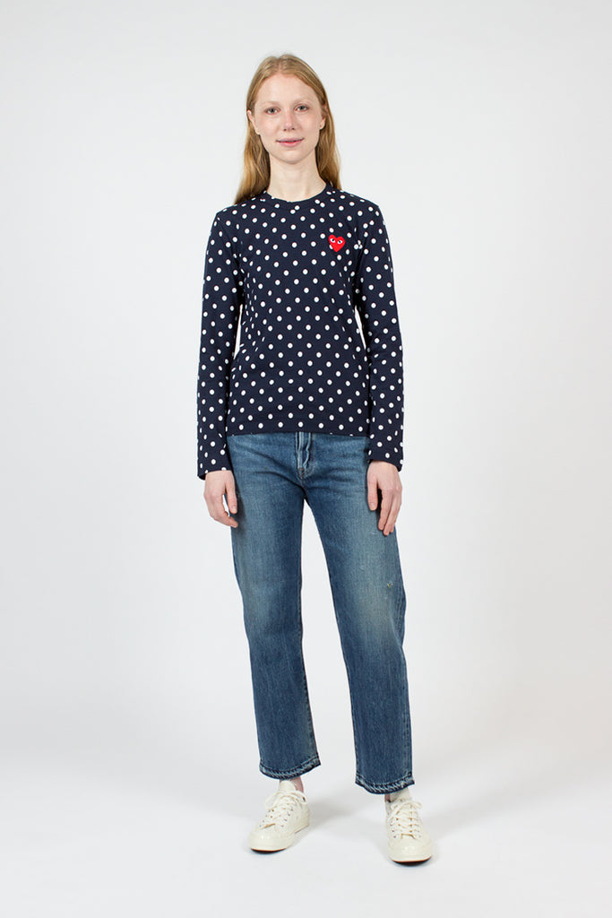 PLAY Navy Polka LS T-Shirt
