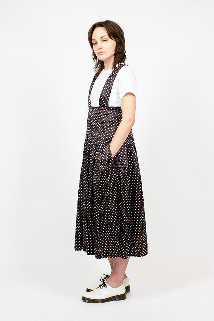 Polka Dot Pleated Jumper Dress
