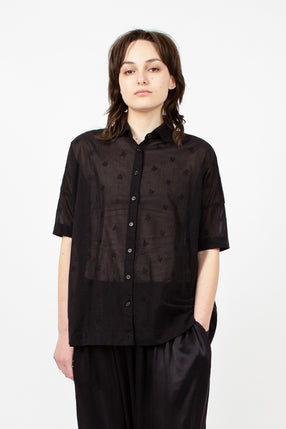 Flower Square Short Shirt