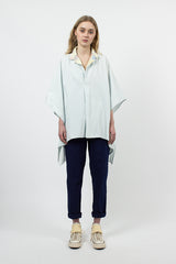 Soft Hickoree X Quilt Remake Doke Shirt Light Blue Stripe