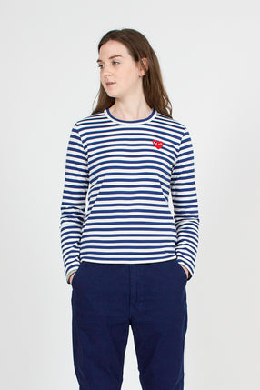PLAY Blue Stripe LS T-Shirt