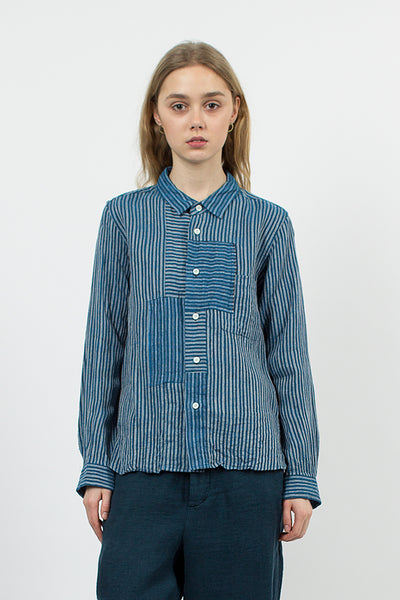Linen Shirt Blue Stripe