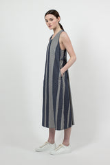 Navy/Grey Mini Gingham Big Check Sun Dress