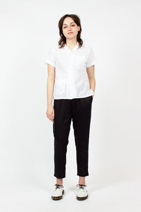 Black Cotton Sateen Sunset Pants