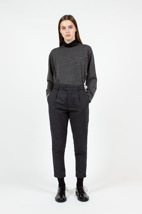 Charcoal Herringbone Sunset Pant