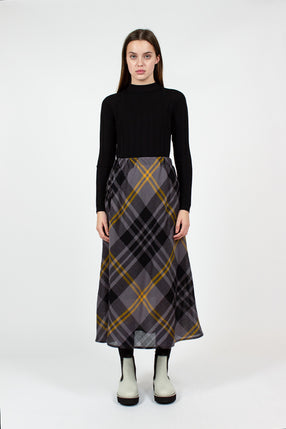 Suwon Grey Check Skirt