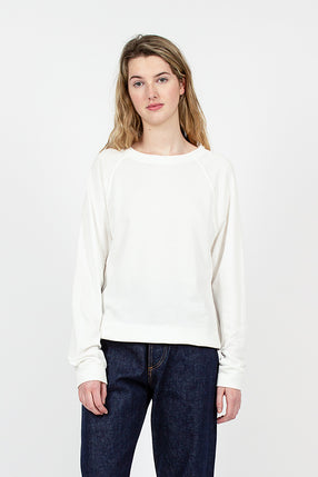 White Organic Cotton Crewneck Sweatshirt