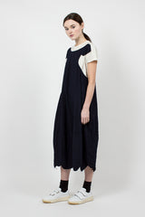 Navy/Off White T-Shirt Dress