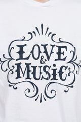 White Love & Music T-shirt