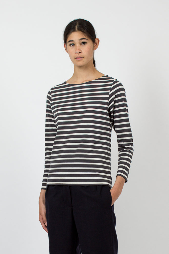 Charcoal/Off White Naval Stripe Jersey