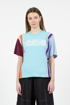 Rebuild Seven Cuts College Turquoise Tee