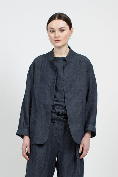 Irish Linen Tailored Cardigan Jacket