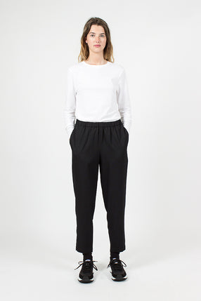 Black Crop Trousers