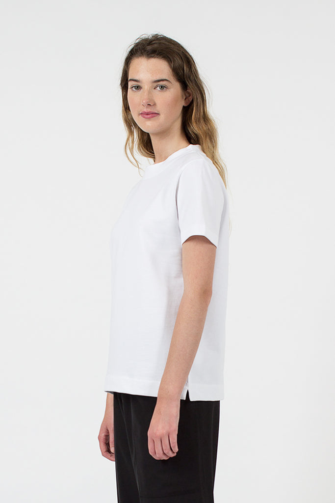 Tear Cotton Fleece T-Shirt White