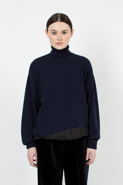 Tixiara Navy Knit Sweater
