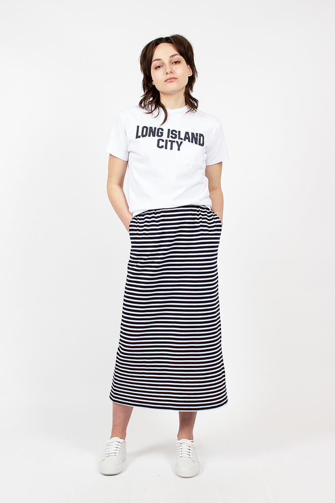 Stripe Jersey Track Skirt