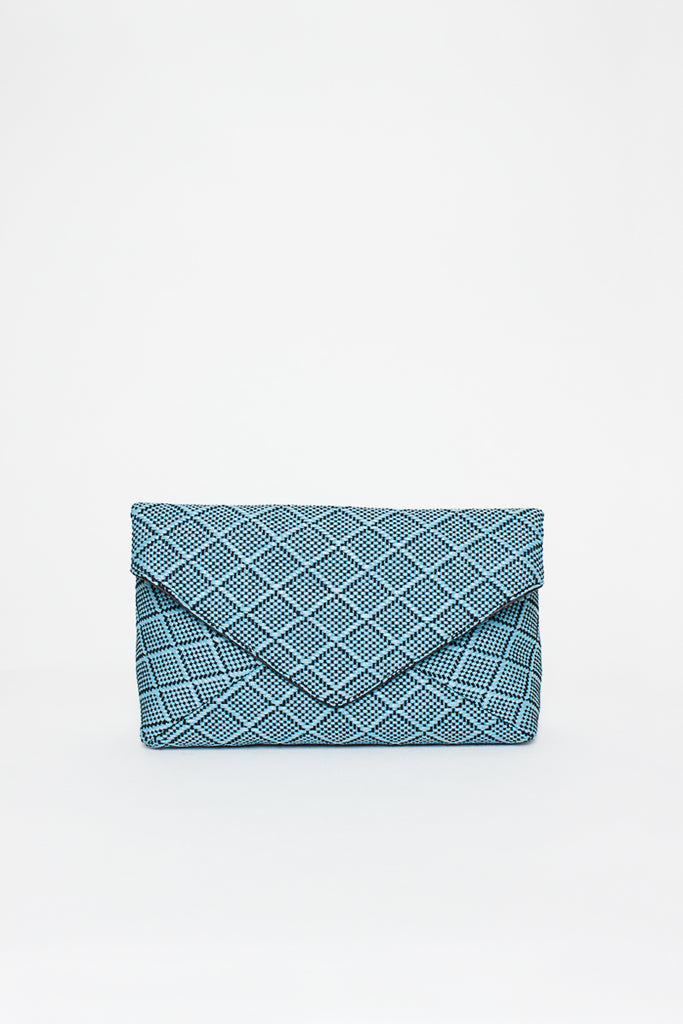 Blue Envelope Clutch Bag