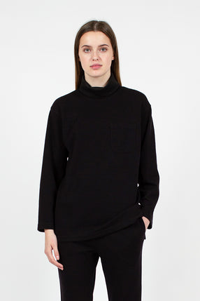 Black Turtleneck Shirt
