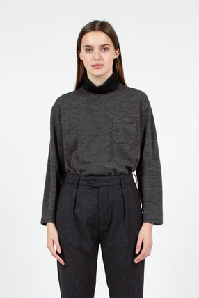 Charcoal Turtleneck Shirt