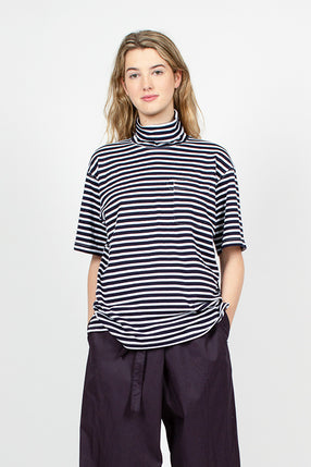 PC Stripe Turtle Neck Jersey