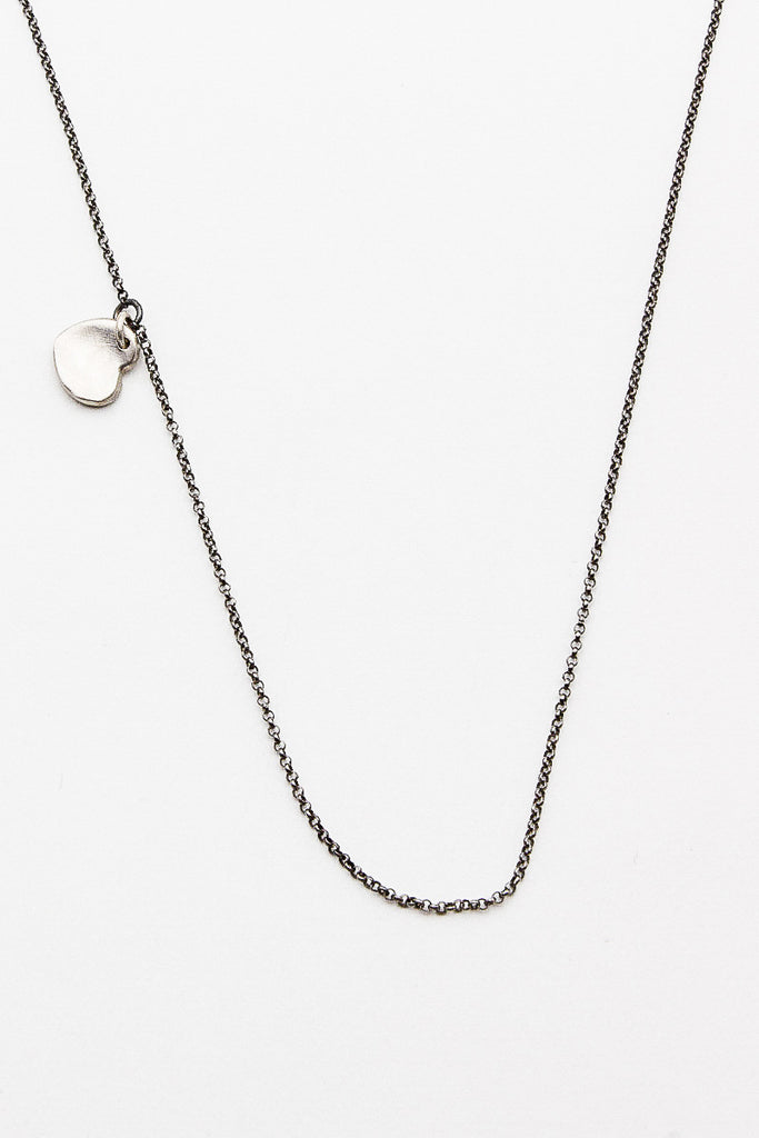 Twist Heart Silver Necklace