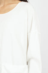 U1817 Pocket T-Shirt TVC White